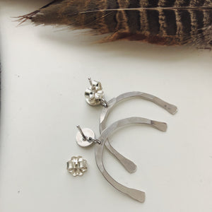 Mini Silver Dangle and Drop Studs