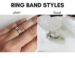 Fire Opal Ring I - Floral Band Option