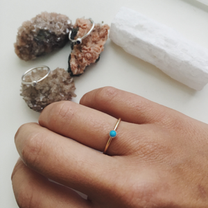 Single Stone Stacking Ring