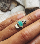 Turquoise Moon & Stars Ring
