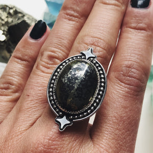 Pyrite TWILIGHT Ring - Size 7
