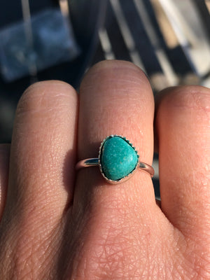 Tiny Turquoise Rings - Made to Order