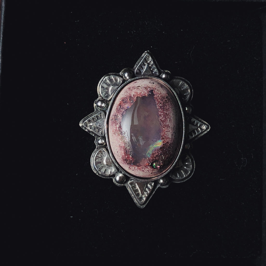 Fire Opal Horizons Border Ring