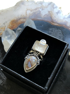 ICE AGE Double Stone Ring - Size 5.5