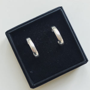 Mini Silver Hoop Earrings