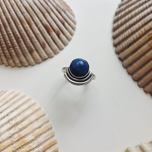 Lapis Ripple Ring