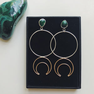 Malachite Crescent Hoops