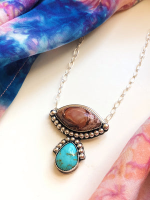 Tears of... Fire Opal & Turquoise