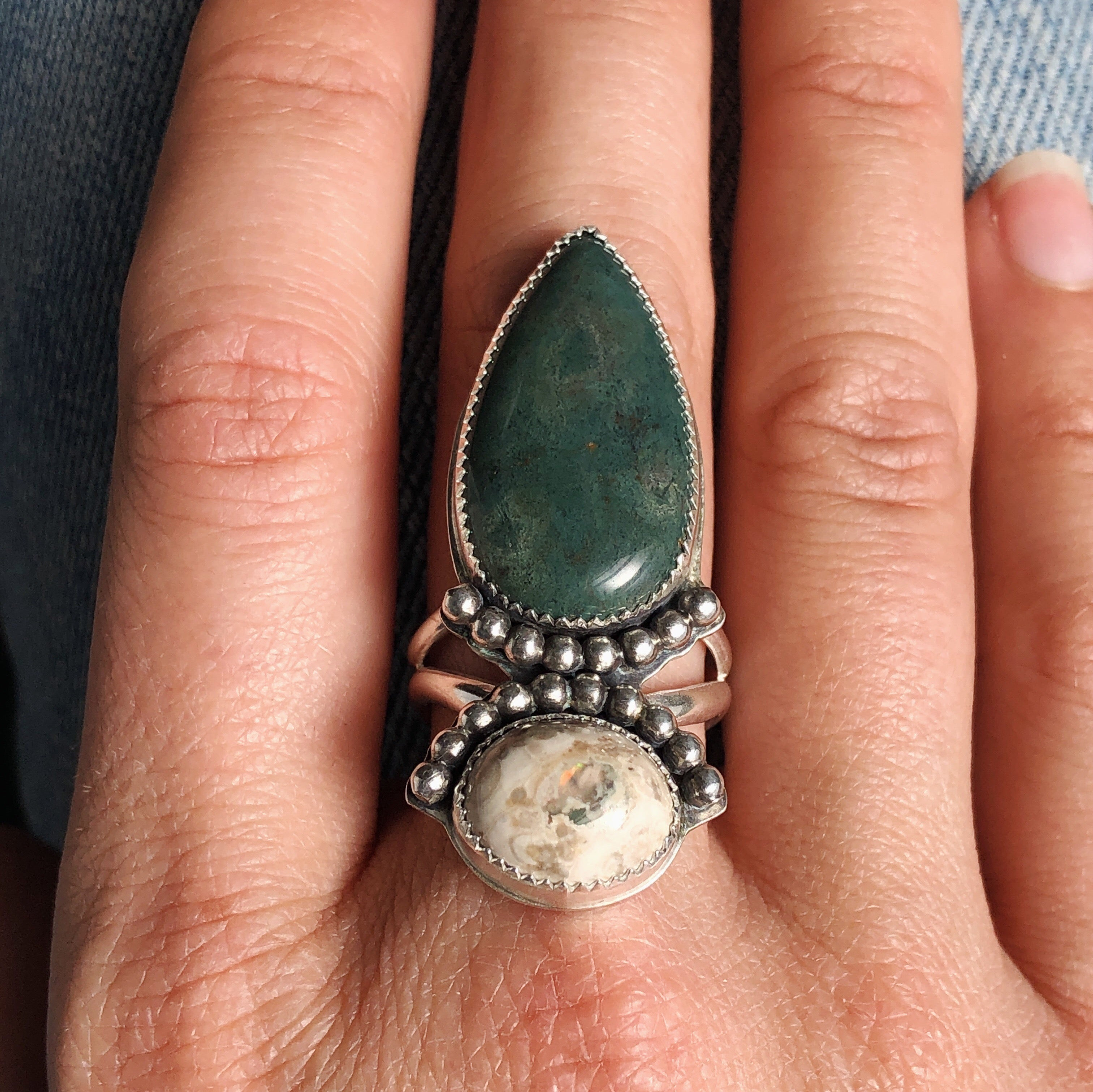 Ode to Spring Double Stone Ring - Size 8