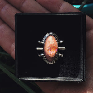 Eyes Wide Open Fire Opal Ring