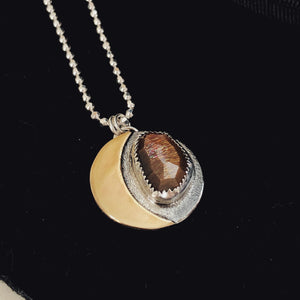 Sunstone Crescent Necklace