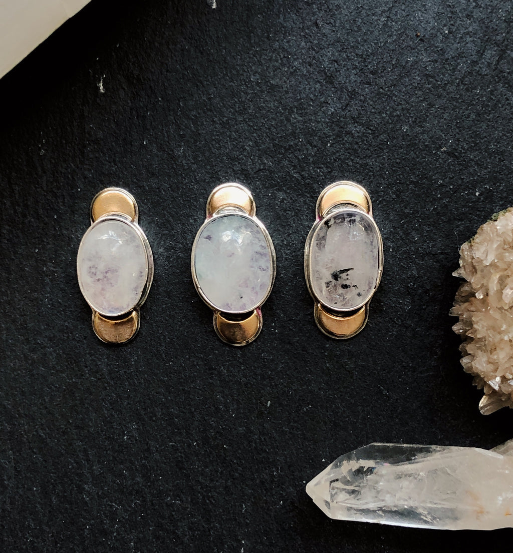 Moonstone Crescent Rings