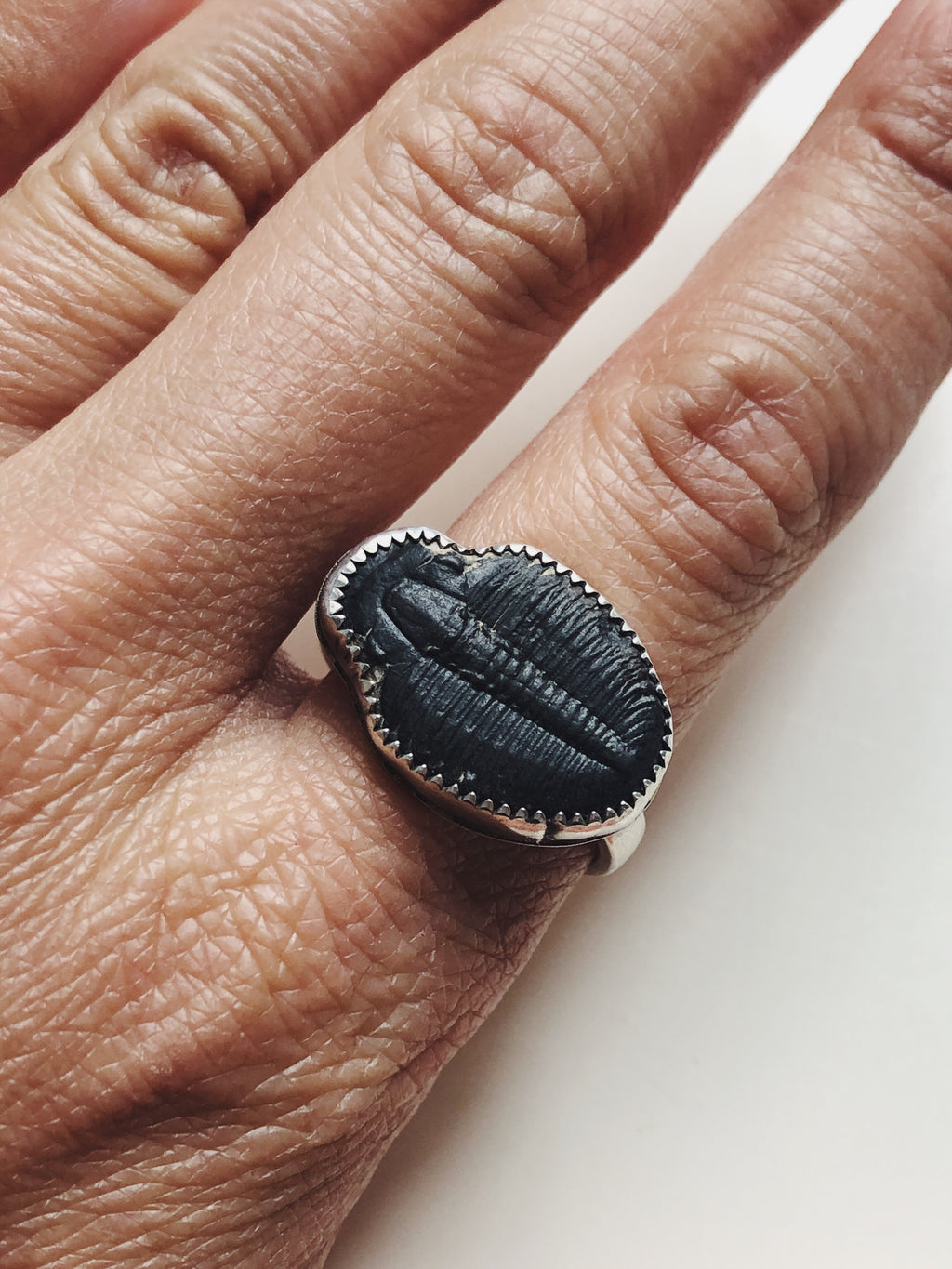 Rustic Fossil Ring - Size 9