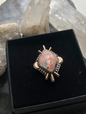 Fire Opal ⭐️Star Bright Ring ⭐️ Size 6 - 6.5