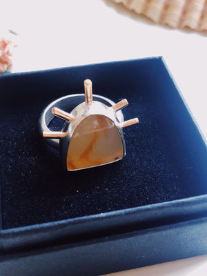 Montana Agate Sunrise Ring