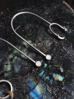 "Moonstone ""In Orbit"" Earrings"