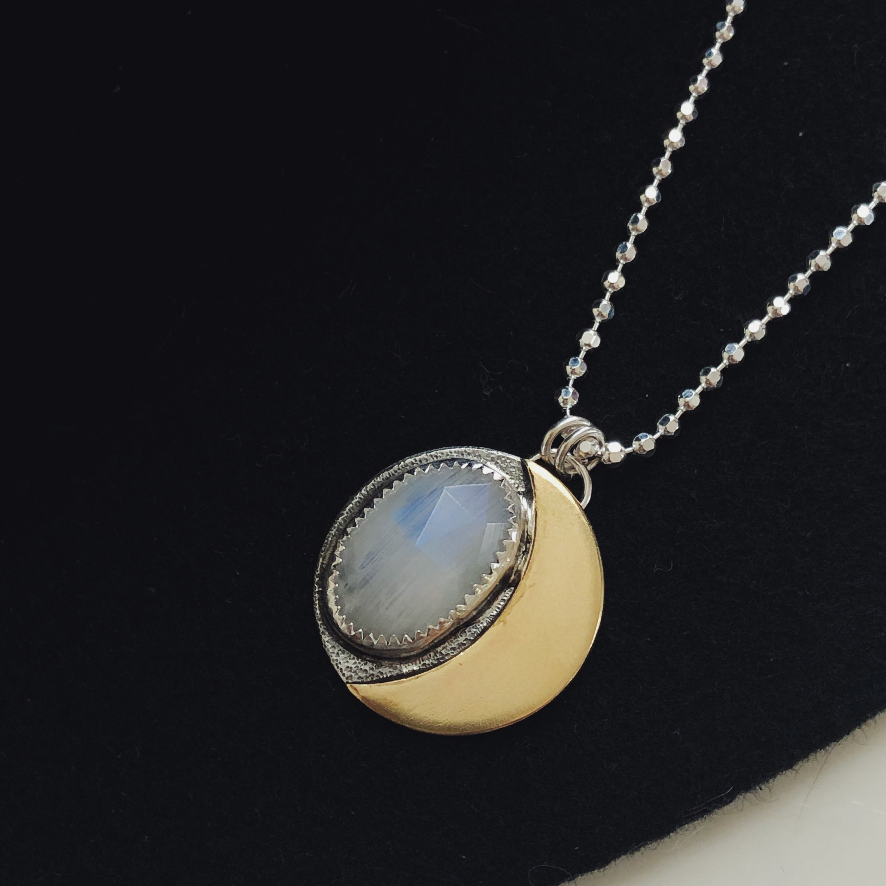 Moonstone Crescent Necklace
