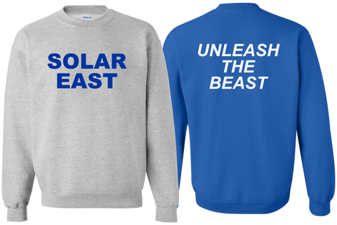Solar East - Fleece Crewneck - Unleash the Beast