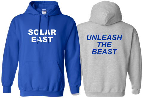 Solar East - Fleece Hoodie - Unleash the Beast