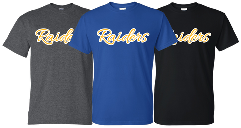 SISD - Cursive Raiders Design - T-shirt