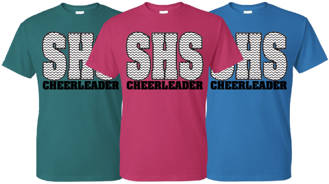 SISD - 2014 SHS Cheer Chevron Design - T-shirt