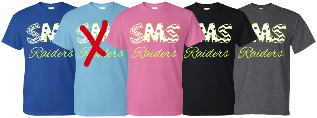 SISD - Pastel SMS Raiders Design - T-shirt
