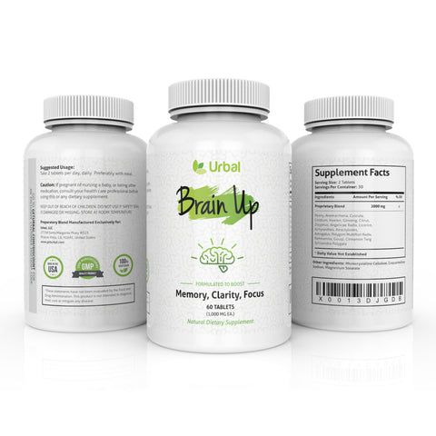 Brain Up - Natural Herbal Based Nootropic (60 Tablets)