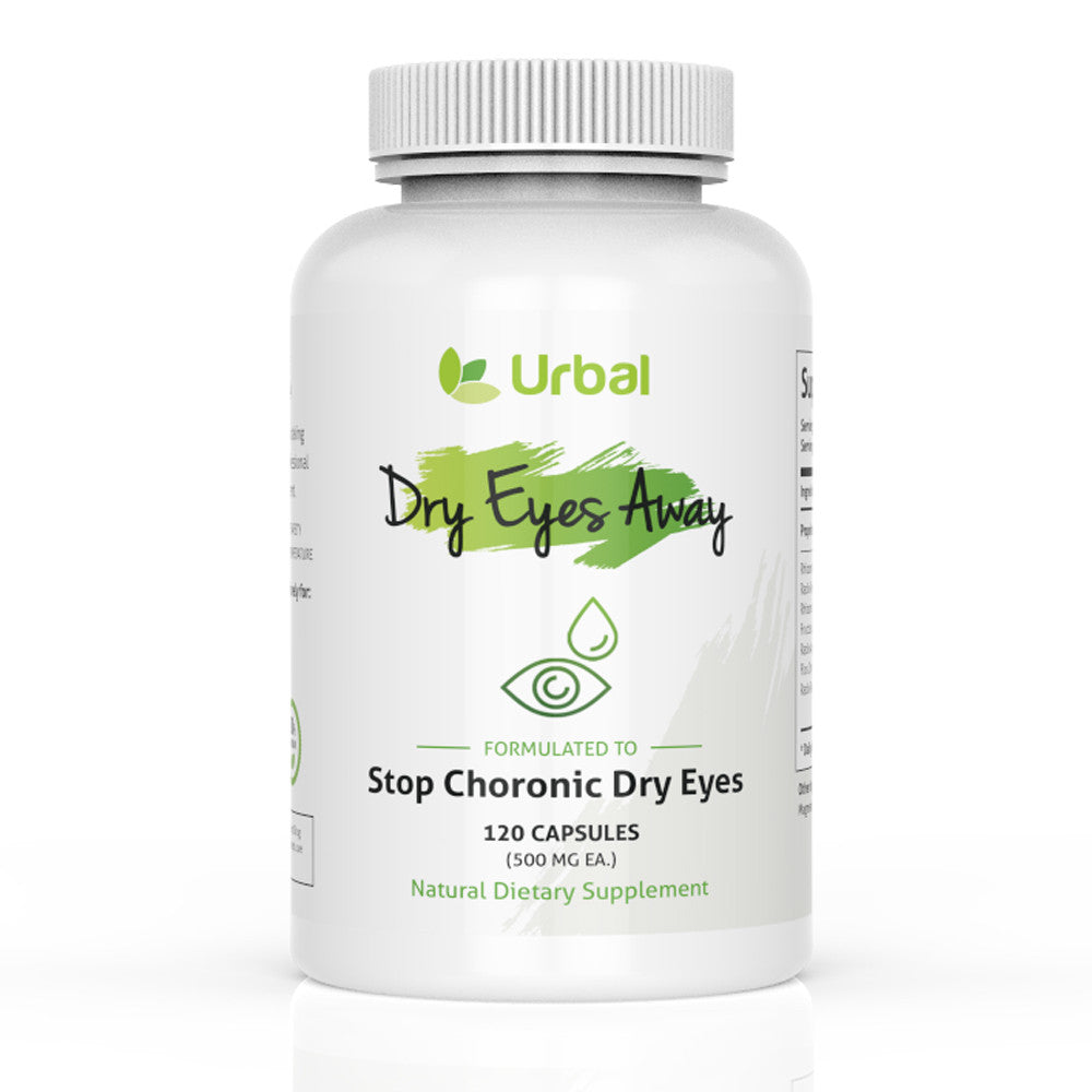 Dry Eyes Away - Natural Dry Eye Relief Supplement - 120 Capsules