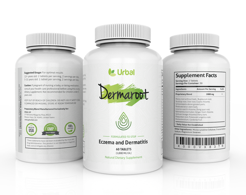 Dermaroot - Stops Eczema and Dermatitis, 60 Tablets
