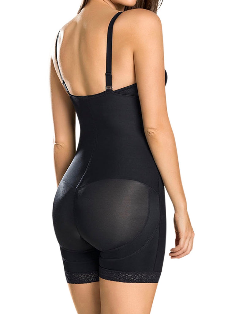 Leonisa Womens Strapless Compression Bodysuit Slimming Shaper Short with Booty Lifter
