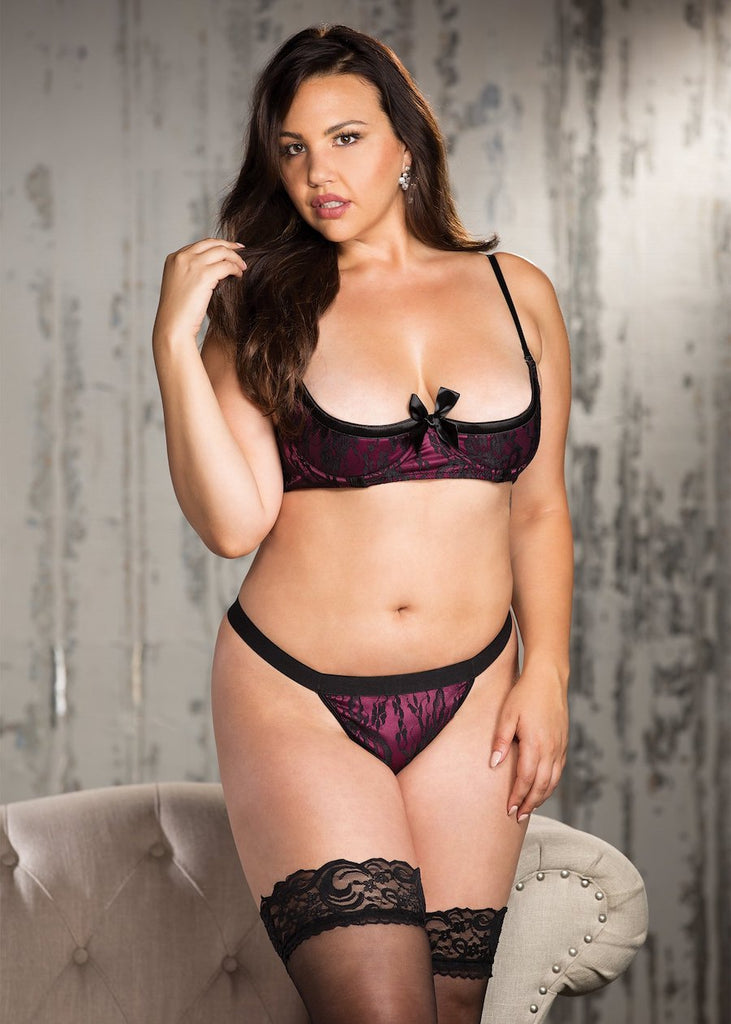 Shirley of Hollywood Plus Size Shelf Bra and Panty Set