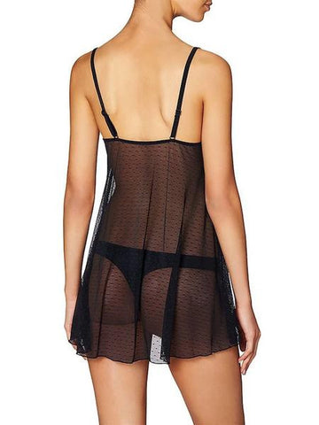 Heidi Klum Intimates New Mesh With Lace Babydoll