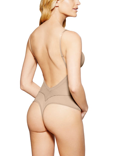 Refined Convertible Backless Thong Bodysuit Shapewear
