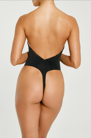Va Bien low back Backless Thong bodysuit Shaper - HauteFlair