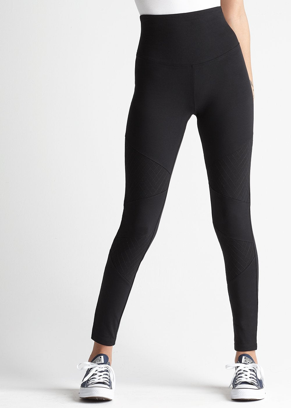 Yummie Quilted High Waisted Moto Leggings