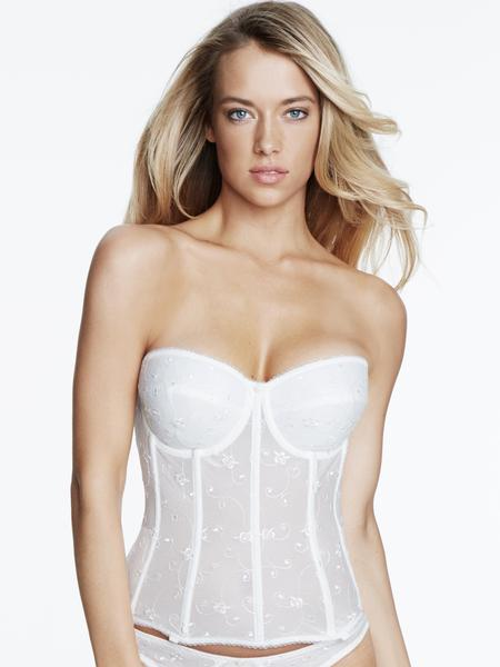 Dominique Embroidered Corset Bridal Bra