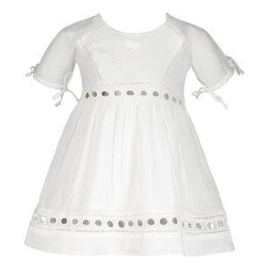 ZARINA EYELET DRESS