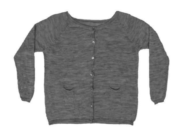 MIA COTTON KNIT CARDIGAN- GREY