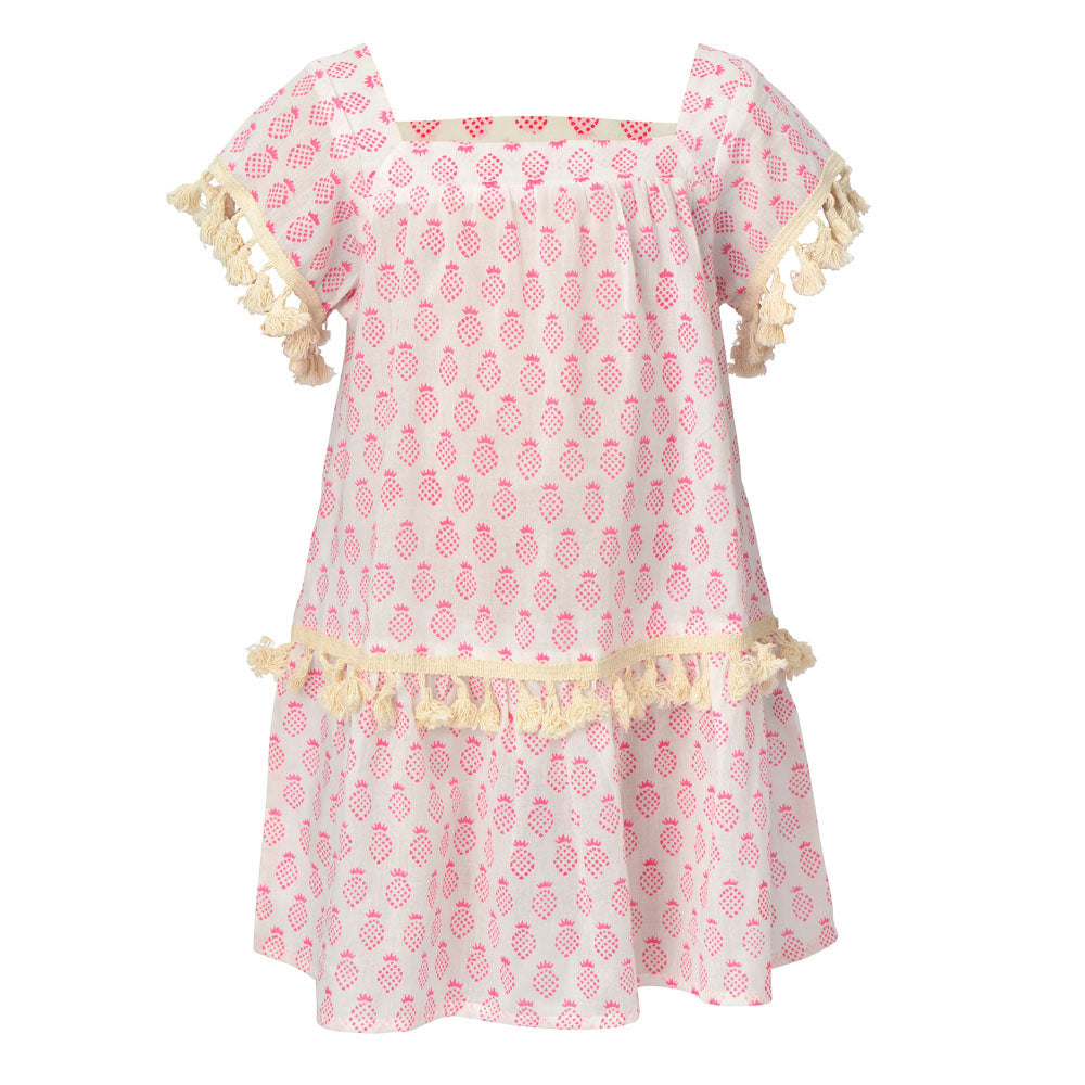 Phoebe Pineapple Dress - Pink