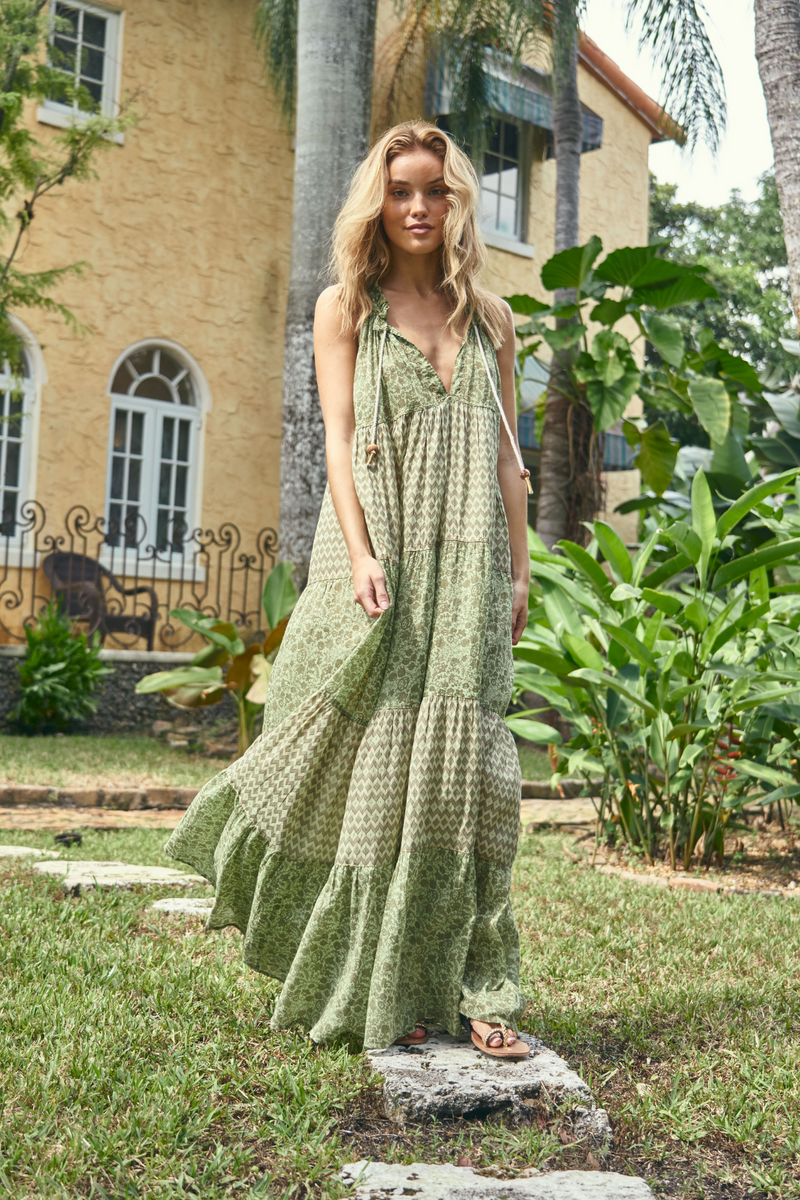 PEGASUS LONG DRESS GREEN