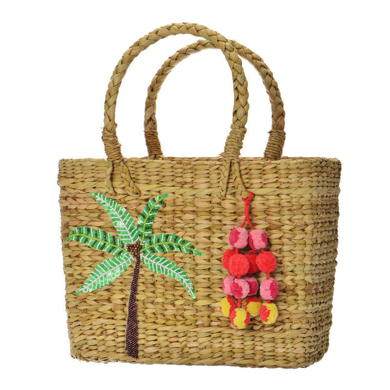 Palm Tree Basket Bag
