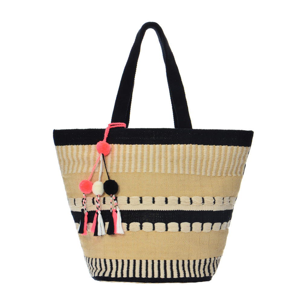 Martinique Tote - Off White / Black