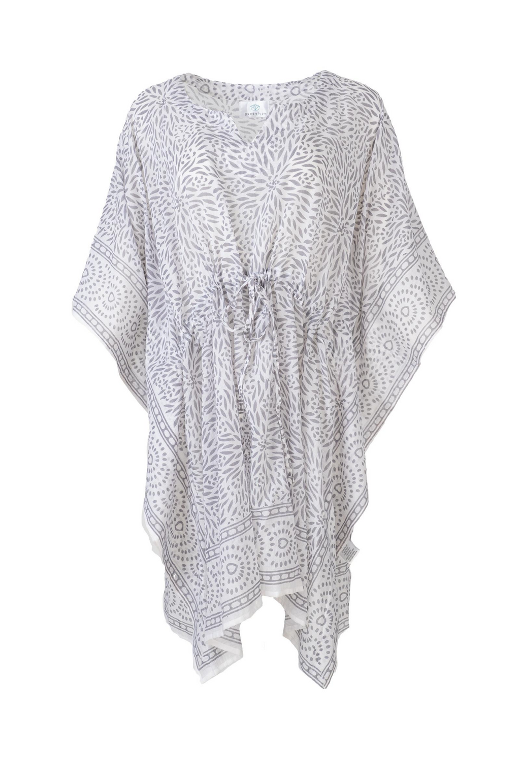 MELODY SHORT GREY KAFTAN