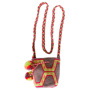 Small Wayuu Kids Mochila Bag - Grey