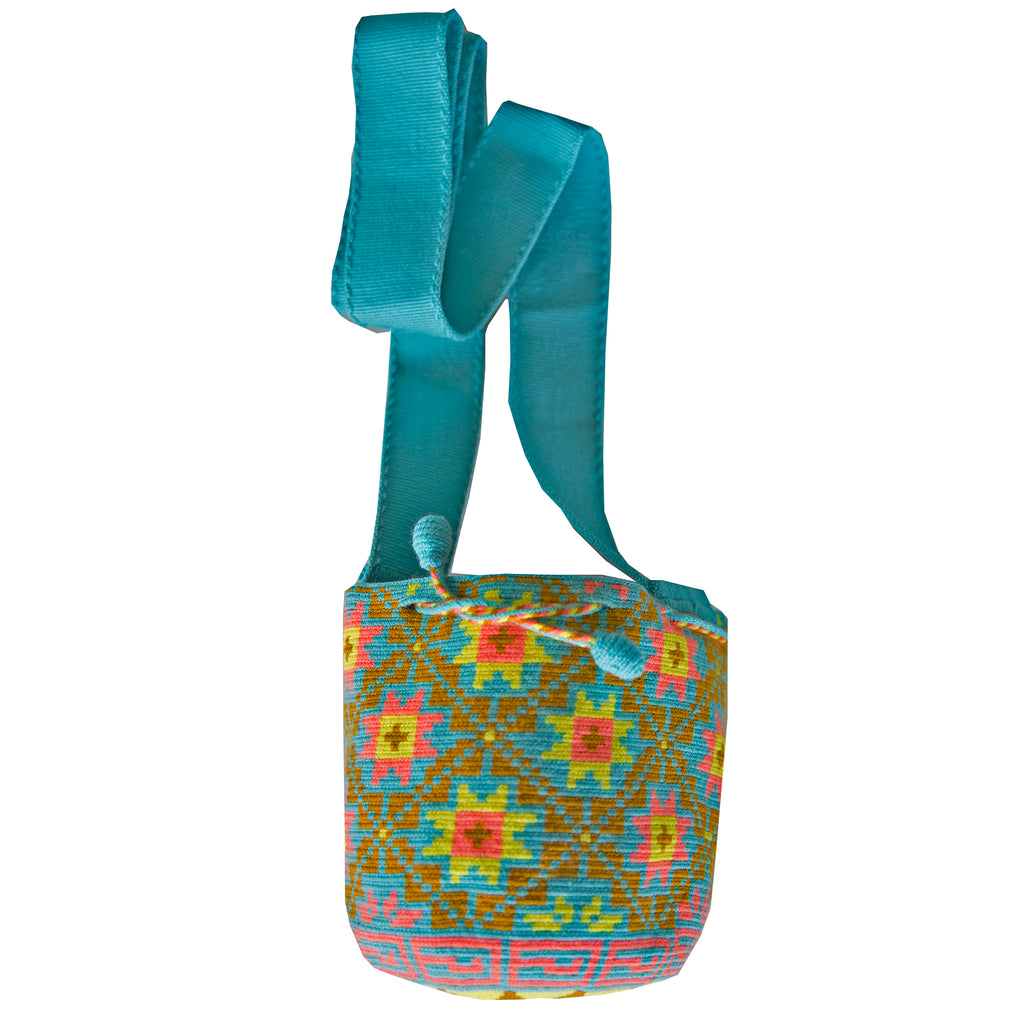 Wayuu Kids Mochila Bag - Blue