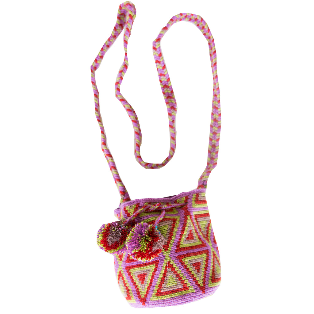 Small Wayuu Kids Mochila Bag - Lilac