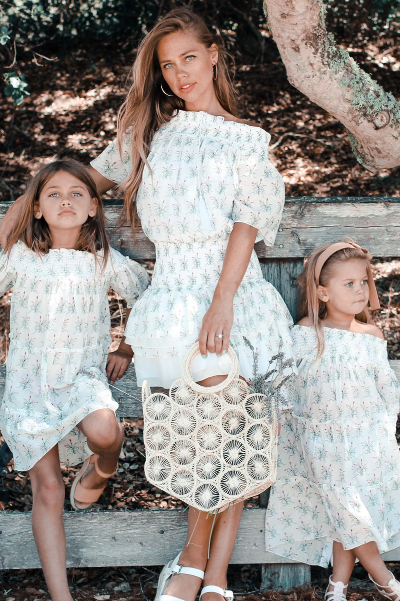 ANAIS MINI DRESS WHITE & BLUE - MOMMY