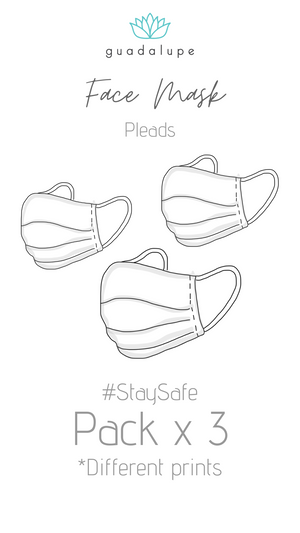 3PACK FACE MASK PLEATED