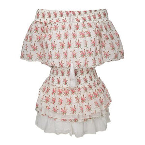 ANAIS MINI DRESS WHITE & PINK