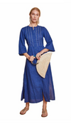 EVELINA LONG TUNIC BLUE